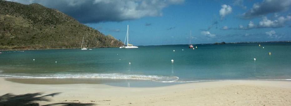 La plage Anse Marcel, sur la côte Caraïbe