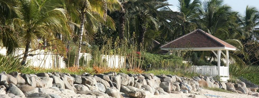 Plage sur la côte caraïbe