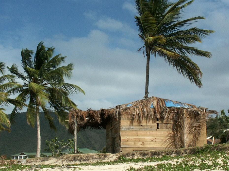 Cabane sur la plage